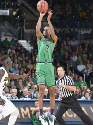 Notre Dame forward V.J. Beachem is eager to try to rebound against Purdue on Saturday.