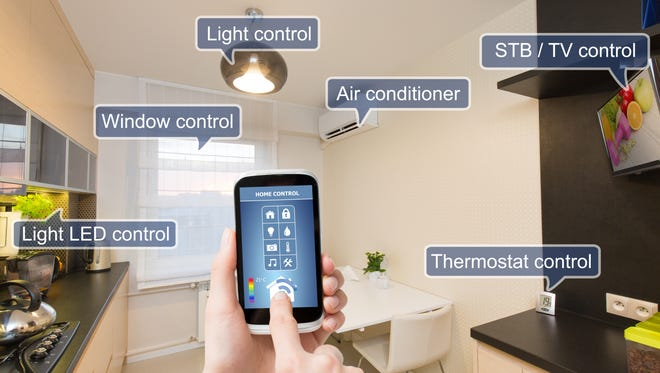 Smart-home technology lets residents control the thermostat, turn on the lights, lock the door and play music with the press of a button
