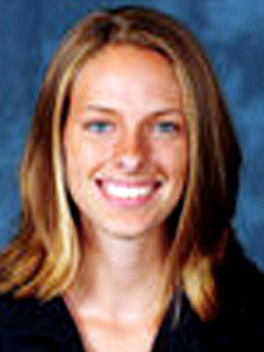 Dover graduate and La Salle women's cross country runner Wendy Hutchinson (Daily Record/Sunday News -- File)
