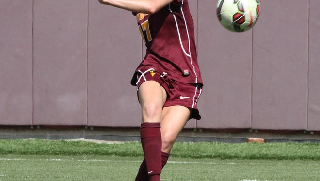 Junior forward Cali Farquharson is seventh nationally in goals per game and points per game for No. 24 ASU soccer.
