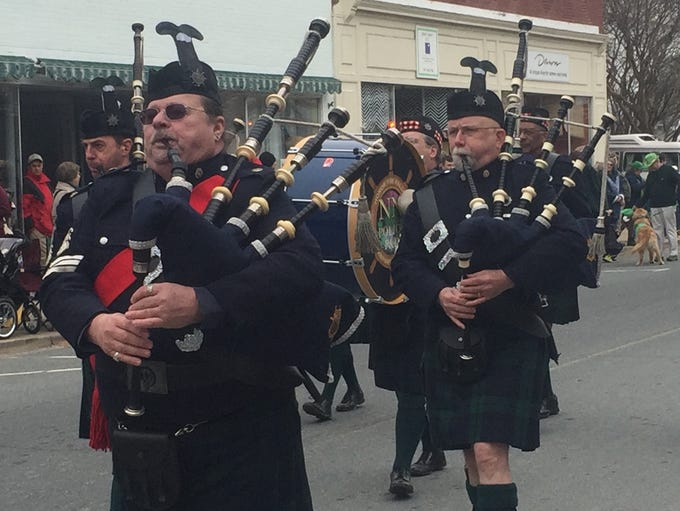 Onancock, Virginia held its annual St. Patrick's Day