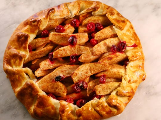 Cranberry-Pear Galette from Robin Miller's kitchen on Jan. 5, 2017 in Scottsdale, Arizona.