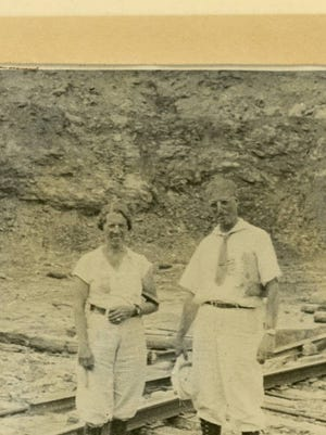 Possible only picture of Anna and George taken in 1933.