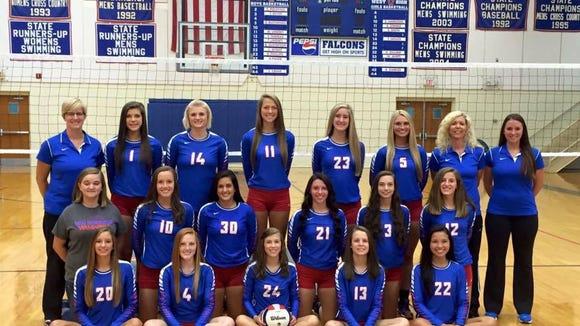 The West Henderson volleyball team.