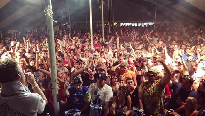 Crowds crammed into the entertainment tent to see Boogie and the Yoyo'z on June 25.