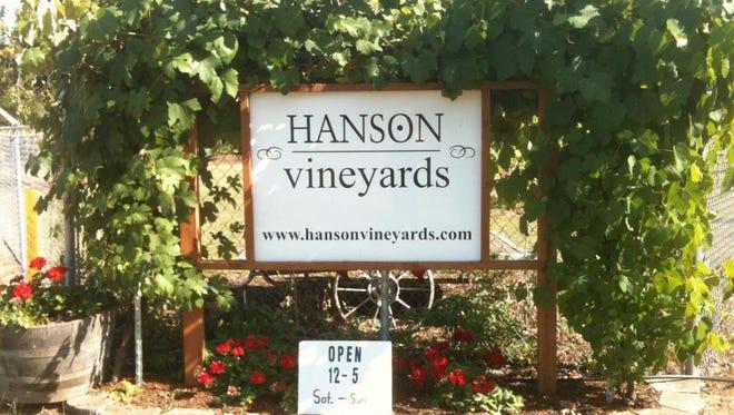 Hanson Vineyards hosts Memorial Day weekend tasting