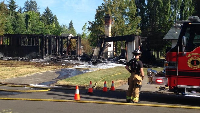 Crews responded to a house fire on Glendale Avenue NE on Wednesday, June 11.