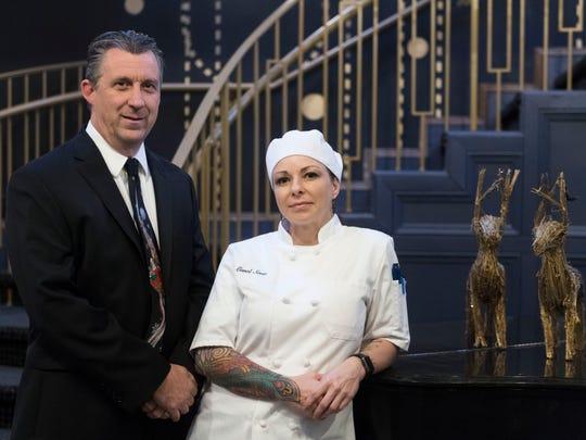 Kitchen 919 general manager Roland Michaud and executive chef Carol Scott on Saturday, Dec. 9, 2017