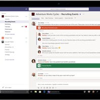 Microsoft battles back against popular office-messaging service Slack by launching a free Teams version