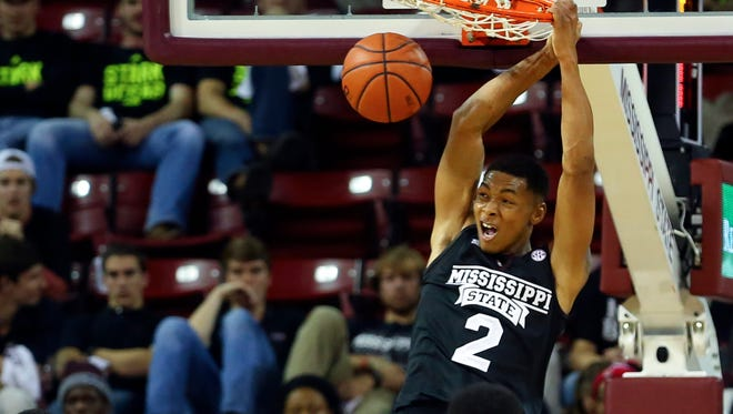 Mississippi State's Demetrius Houston is no longer on the basketball.