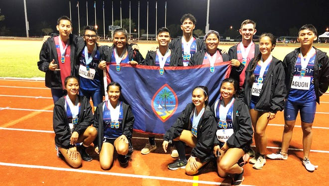 Guam's track and field team medalists from the fourth day of events. Athletics has won the lion's share of Guam's medals at the 9th Micronesian Games in Yap.