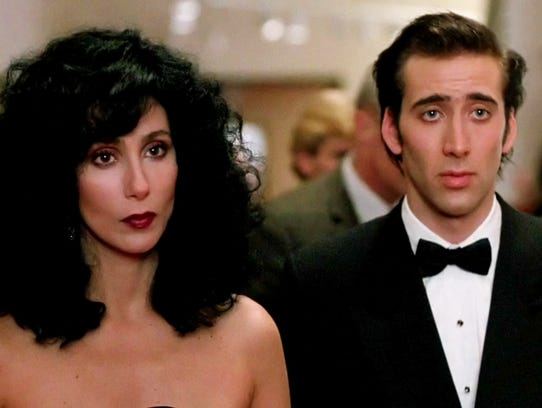 "Cher and Nicolas Cage in ""Moonstruck"""