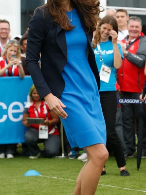 Duchess Kate plays South African game of Three Tins at Commonwealth Games Village on July 29in Glasgow, Scotland.