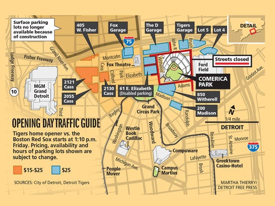 Opening Day traffic guide