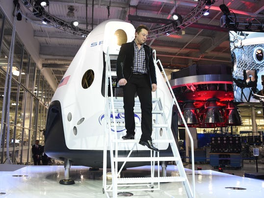 Elon Musk Uses Tesla Tech In Spacex Space Taxi