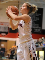 Rosecrans' Claire Creeks takes a shot during the Lady