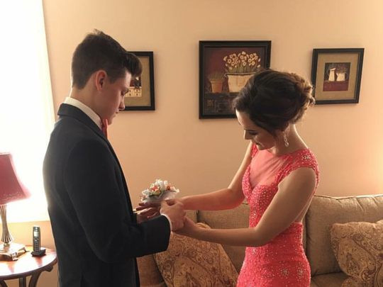 Taylor Feniello and her date Jack Lane at the South