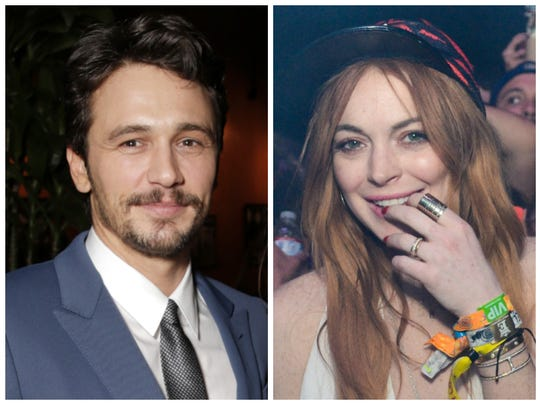 James Franco wrote about a hotel room visit from Lindsay Lohan.