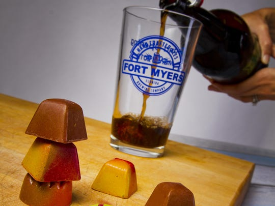 Norman Love chocolates and beer from Fort Myers Brewing