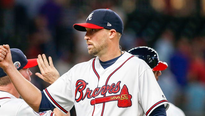 Jim Johnson had 22 saves while spending the first four months of last season as the Braves' closer.