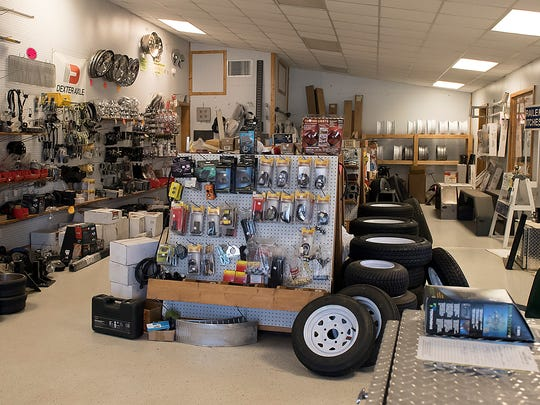 The Zahm' Trailer Sales parts shop; they carry a large inventory of trailer parts, B&W hitches and tires and rims.