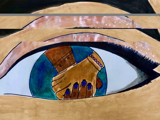 """The young talent of the New Brunswick Middle School Art Klub will be on display during """"Windows of Understanding."""""""