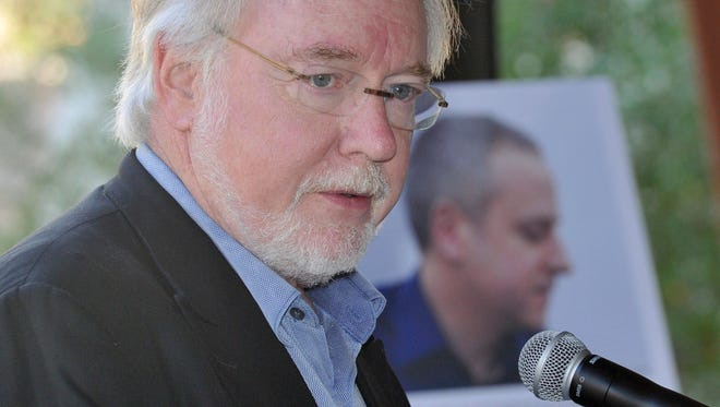 Thomas W. Morris, shown at a 2013 Ojai Music Festival Meeting at Libbey Bowl, will leave his job as the festival's artistic director after the 2019 event.