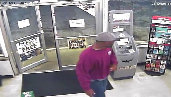 Police believe this surveillance photo shows the man who robbed the Village Pantry at 19th Street and Schuyler Avenue on Aug. 6.