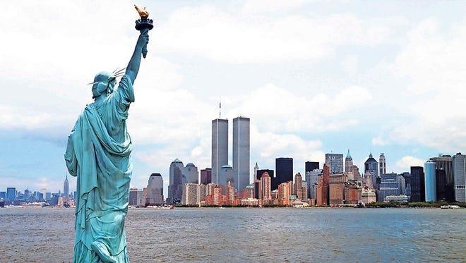 New York Harbor, before 9/11/2001.