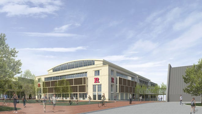 Artist's rendering of the proposed multi-sport practice facility.