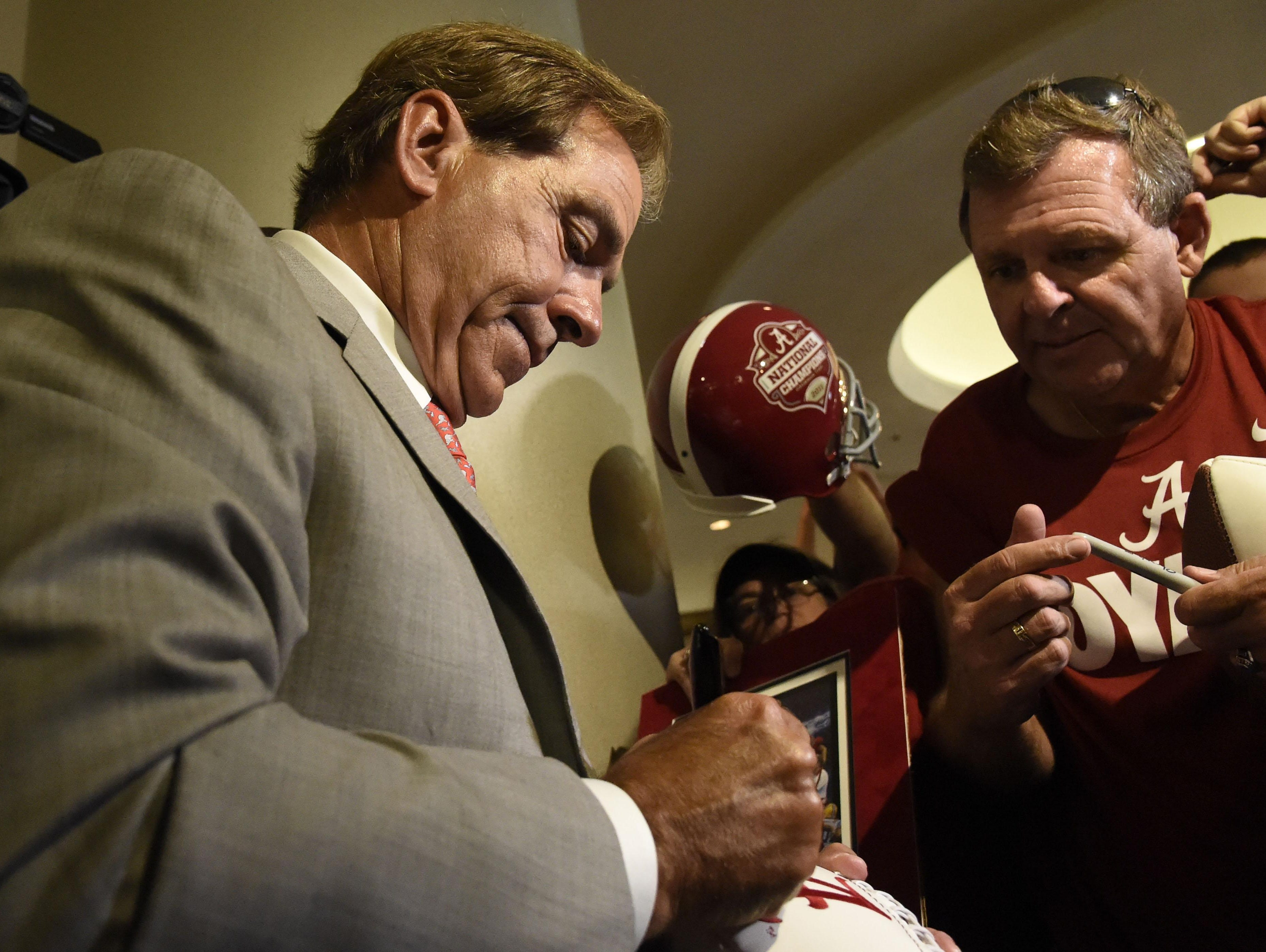 Alabama's Nick Saban remains the highest-paid coach in college football at $7.3 million a season, but the expectations to win are enormous for the Crimson Tide.