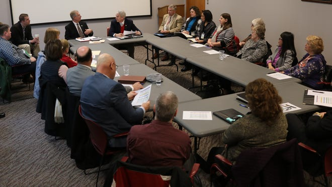 State Rep. Steve Arndt, R-Port Clinton, and State Sen. Randy Gardner, R-Bowling Green, met with leaders from agencies and organizations throughout Ottawa County impacted by the devaluation of Davis-Besse.