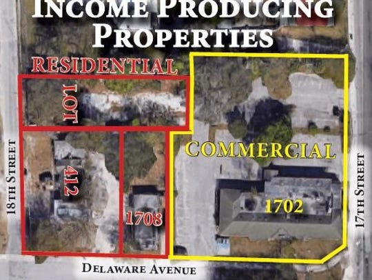 An auction of potential income producing properties