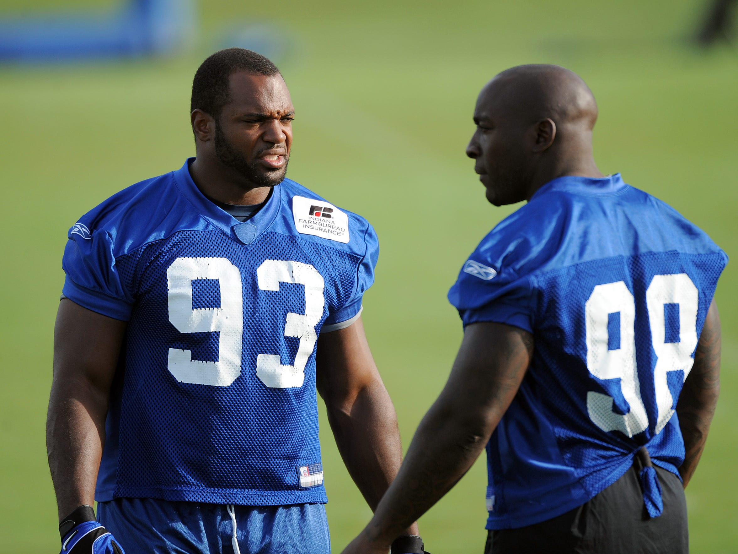 Not bad for a tandem: Freeney (left) and Mathis combined for 186 sacks and 73 forced fumbles over 10 seasons together.