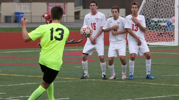 Lakeland defeated Somers 2-1 in soccer action at Somers High School Sept. 28, 2016.