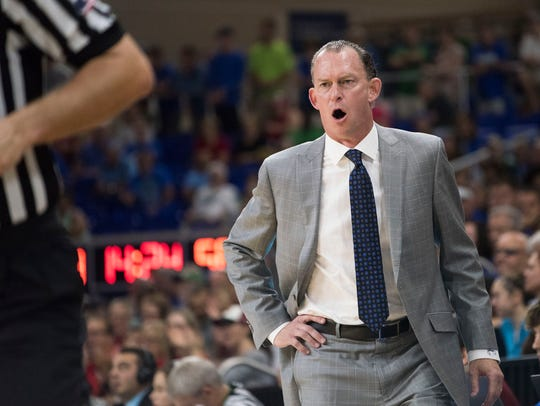 FGCU coach Joe Dooley has led the Eagles to all three of their Atlantic Sun regular-season titles and two NCAA tournament berths in five seasons.