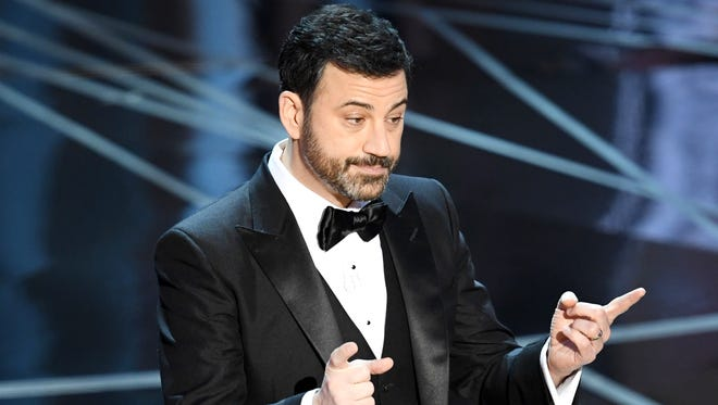Jimmy Kimmel hosts the 89th Annual Academy Awards on Feb. 26, 2017,in Hollywood, Calif.