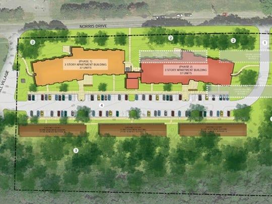 Developer Rochester Management has released revised plans for Cobbs Hill Village.