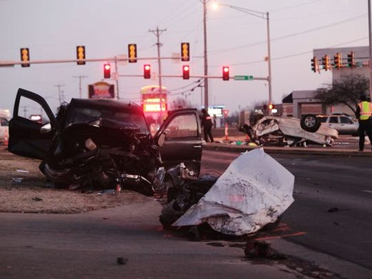 Scene of a fatal crash on Campbell Avenue, just south