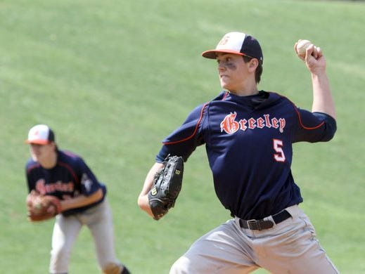 Brandon Neeck pitched a complete game shutout as Horace Greeley defeated Stepinac in the championship game of the Pat Flaherty Memorial baseball tournament at Suffern High School April 2, 2016.