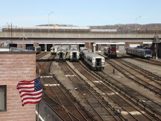 A view of the train yard at the Metro-North Maintenance Facility at the Croton-Harmon Yard, April 15, 2015.
