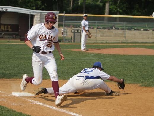 Action during Game 1 of a CHSAA opening round tournament game between Iona Prep and Salesian at Iona Prep on May 27th, 2016. Iona Prep won 10-5.
