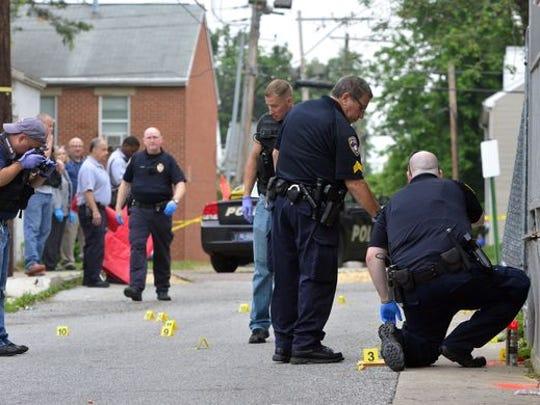 York City Police investigate the June 16, 2016, homicide