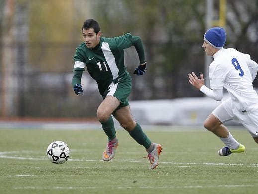 Solomon Schechter defeats Geneseo 1-0 in the the NYSPHSAA Class C state semifinal soccer game at Middletown High School on Saturday, Nov. 14, 2015.