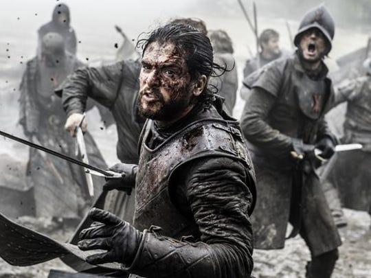 """Jon Snow in the """"Battle of the Bastards."""""""