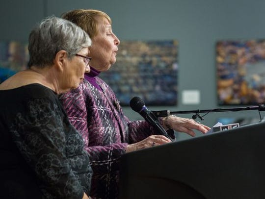 Gloria Zeitak of Israel and Faye Menczer Ascher of