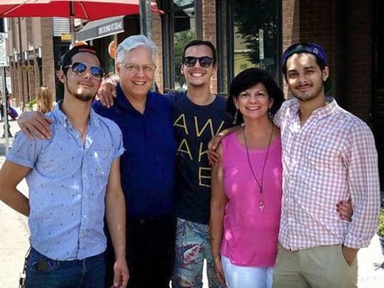 The Summers family includes Jon and Janet Summers and their three sons — Branson and twins Wesley and Jared.
