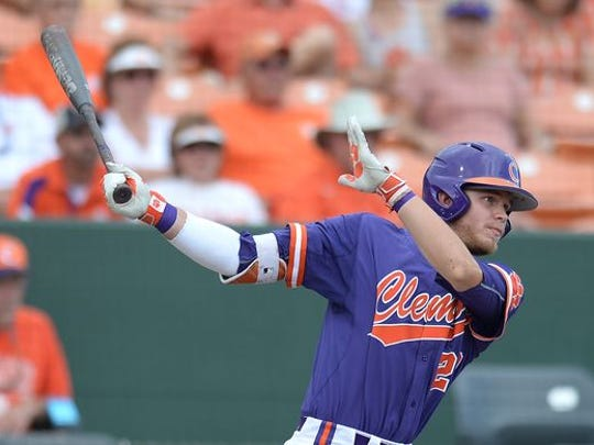 Clemson's Seth Beer batted .369 with 18 homers last season.