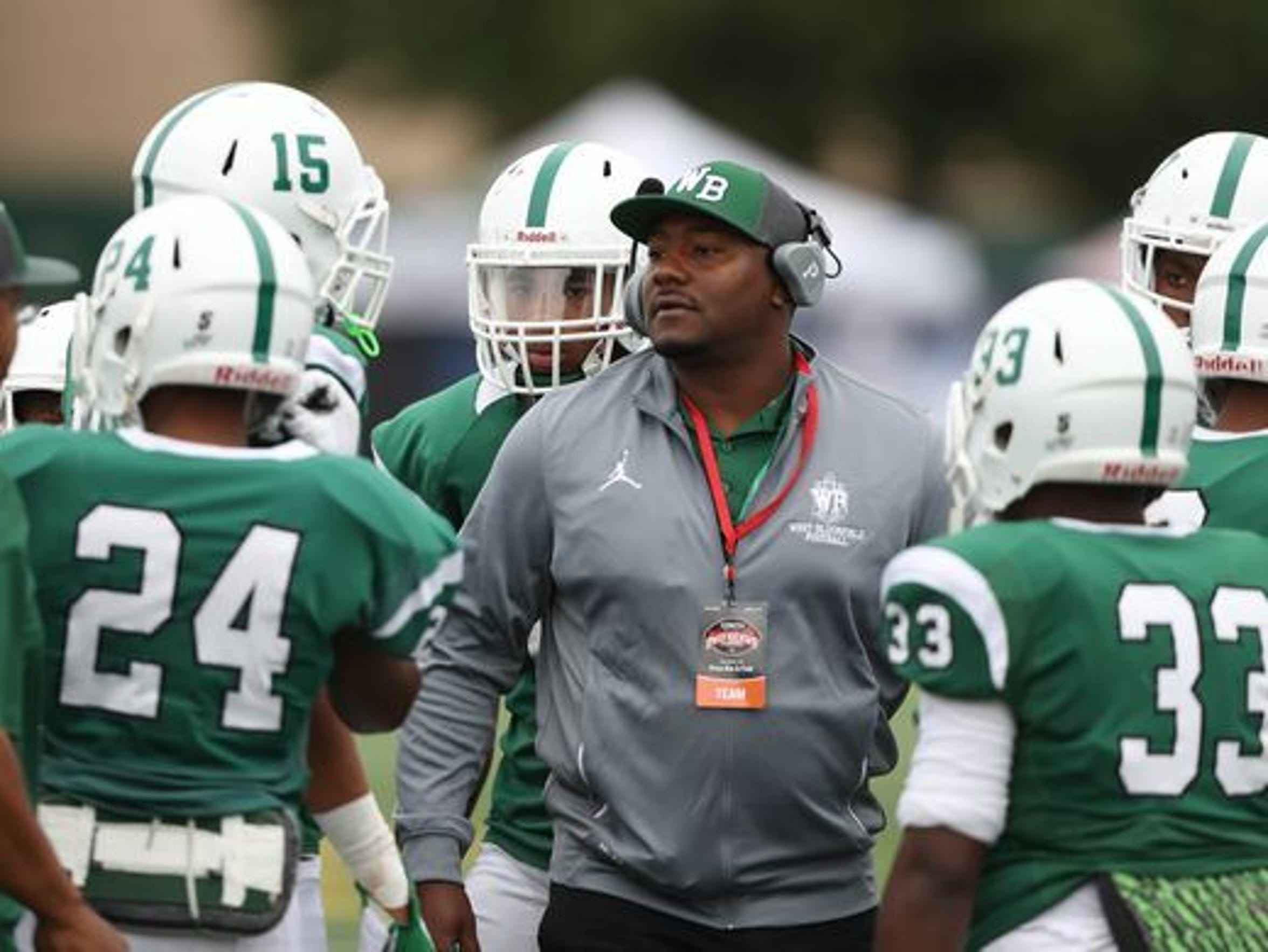 West Bloomfield football coach Ron Bellamy.