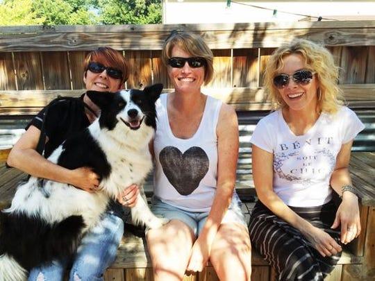 The dog-friendly patio at Flat 12 Bierwerks has plenty